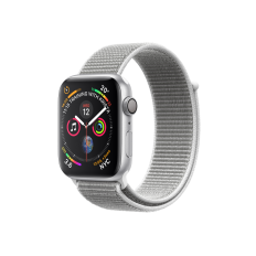 Apple Watch Series 4 GPS 44mm Silver Aluminium Case with Sport Loop - Seashell MU6C2