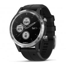Garmin Fenix 5 Plus Multisport Watch , Silver with Black Band (010-01988-11)