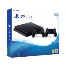 Sony Playstation PS4 500GB Slim Black + 2o Χειριστήριο