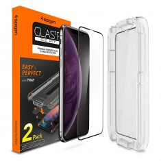 Spigen® (x2Pack) GLAS.tR EZ FIT™ Full Cover HD 065GL25171 x.xs max